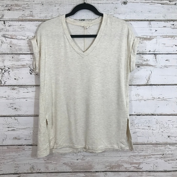 Zobha Tops - Zobha Cream Short Sleeve Sweater